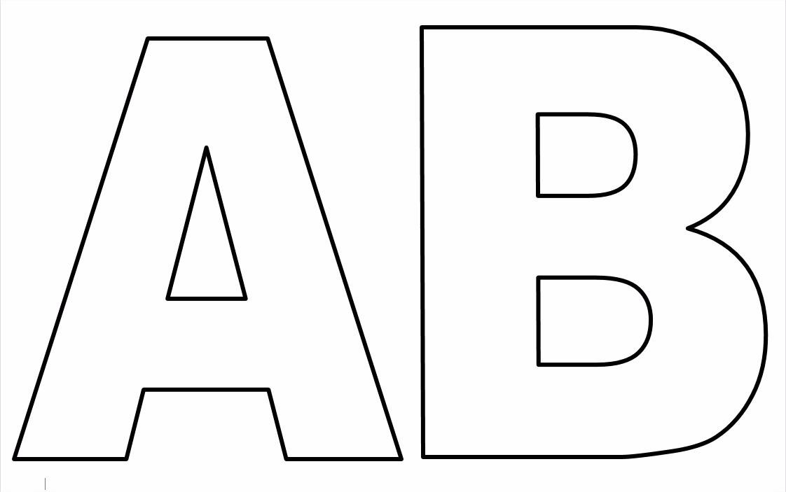 Abecedario De Letras Para Imprimir: Letras Para Imprimir De A A Z