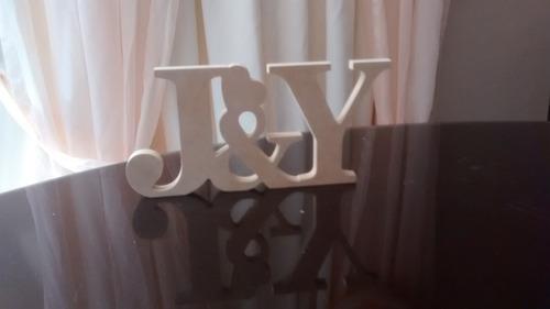 letras para matrimonio candy bar mdf crudo 15cm altura