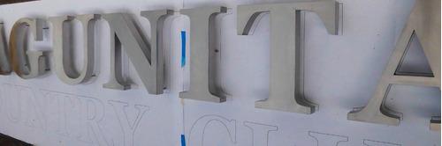 letras para quintas,edificios en relieve en acero, aluminio