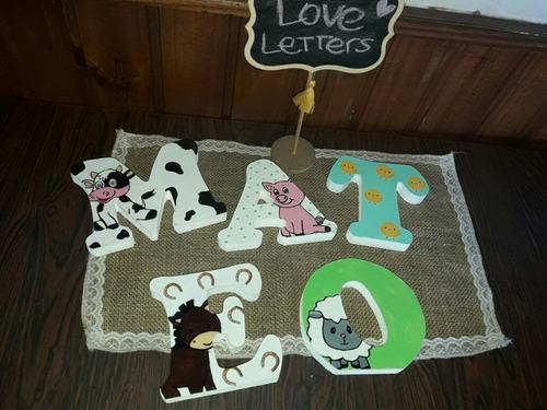 letras personalizadas animales de la granja