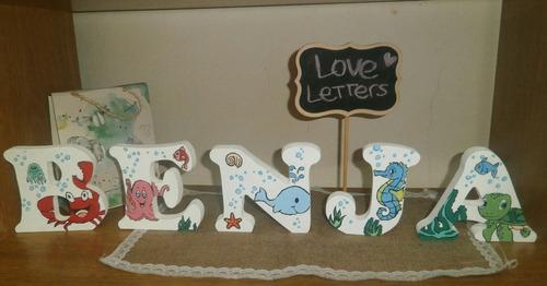 letras personalizadas en madera