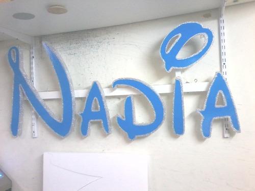 letras polifan - corte cnc - carteles - tergopor - decoracio
