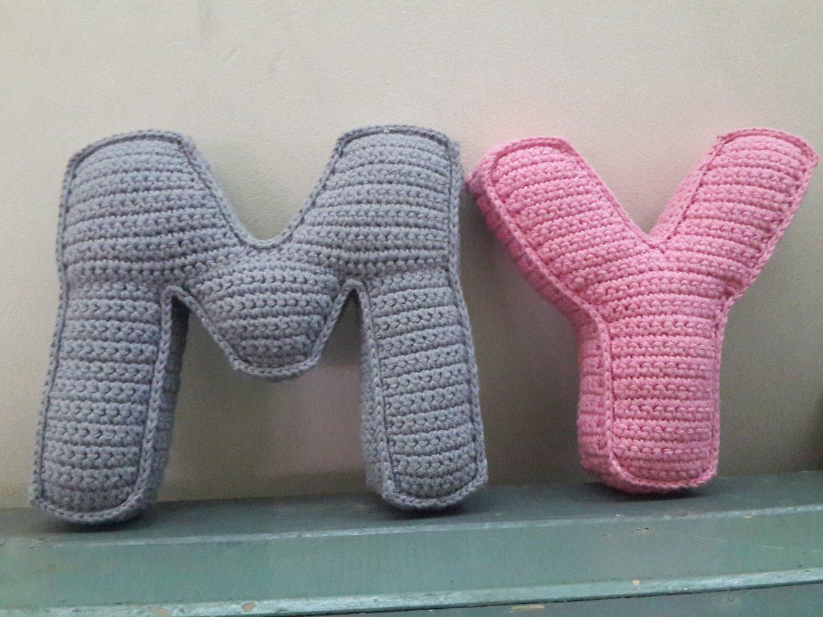 Letras Tejidas Al Crochet Amigurumi - Shamy Amigurumis - $ 190,00 en ...
