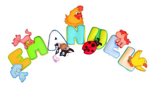 letras termoformadas con motivos infantiles para cuarto