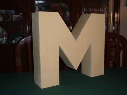 letras tipo caja de mdf de 30 cm de altura y 8 cm profundo
