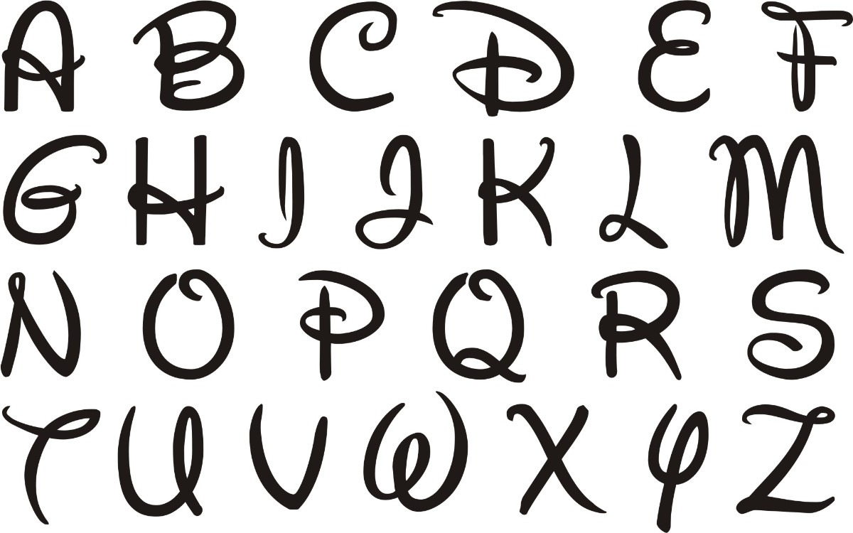 letras tipografia disney - nombres frases en fibrofacil