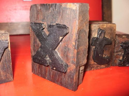 letras - tipos madera decoracion vintage