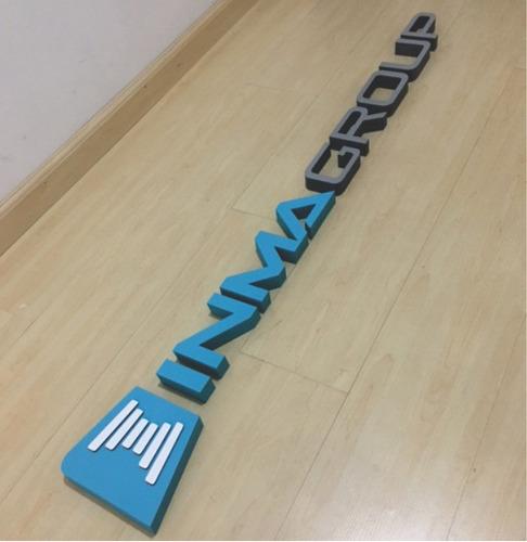 letras y logos corporeos mdf pintado corte laser digital