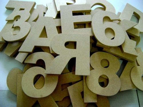 letras y numeros, figuras en mdf corte laser