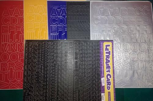 letraset card letras e números autoadesivos em vinil.