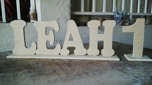 letras,números de 40 cm elaborados en mdf listos para pintar