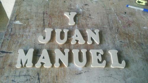 letras,números de 50 cm elaborados en mdf listos para pintar