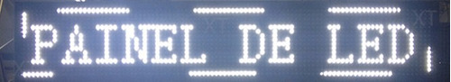 letreiro painel led digital 70x20 branco interno