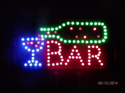 letreiro painel placa luminosa led piscante escrito bar 110v