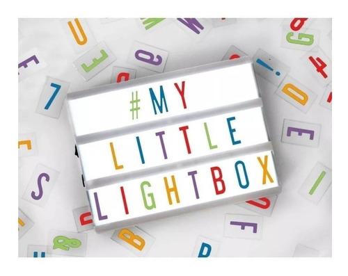 letreiro quadro led light box cinema a4 com 85 letras numero