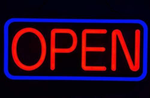 letrero abierto de neon led ultra brillante de 21 x 10 britt