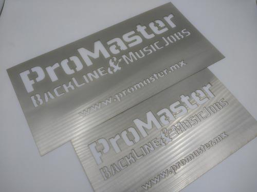 letrero acero inoxidable 60x40 cm corte láser personalizado 4 soportes gratis