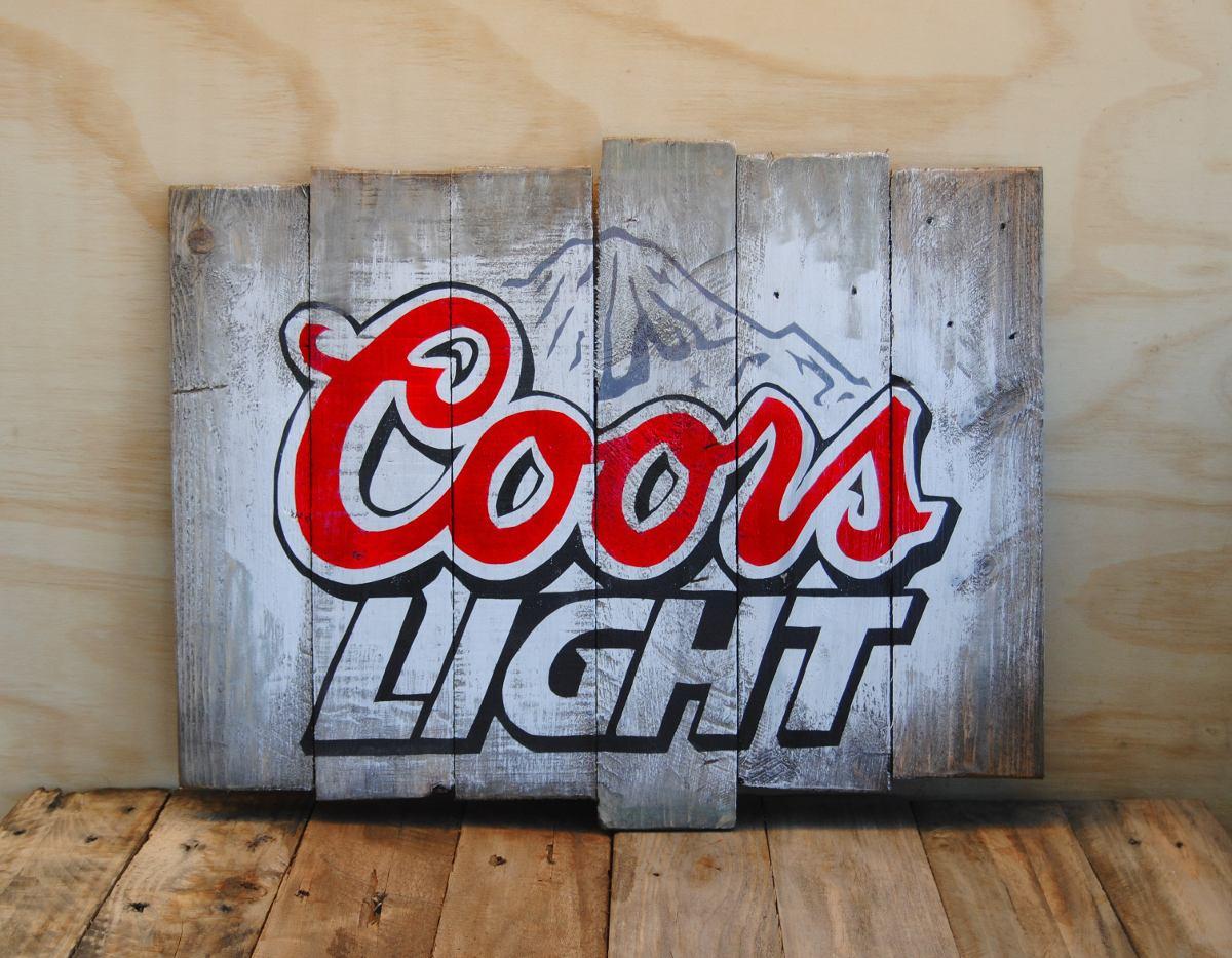 Letrero anuncio viejo cerveza madera tipo vintage o - Letreros en madera ...