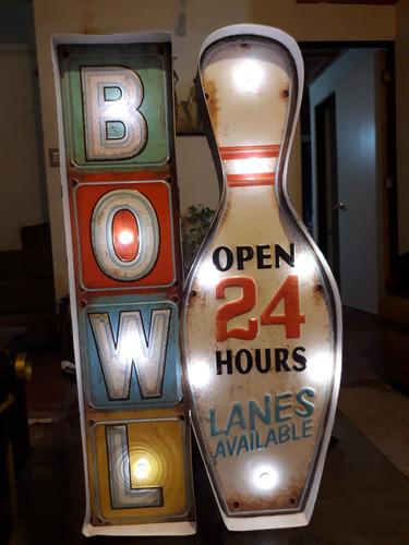 letrero bar pub led bowling