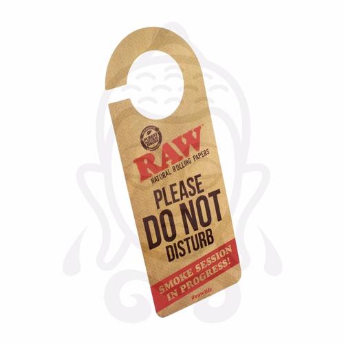 letrero colgante para puerta raw natural rolling papers