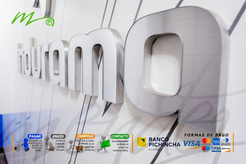 letrero  corporeo, letras 3d, rótulos 3d.