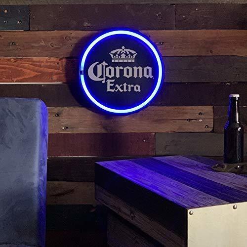 letrero de cuerda de luz de neon led azul extra corona, form