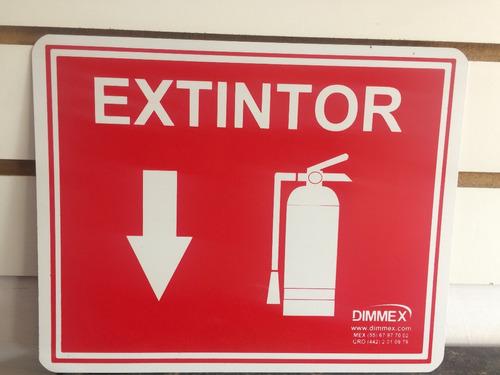 letrero de extintor dimmex 20x25