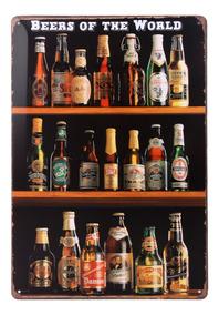 Cartel Letrero de Chapa Bar Cerveza Pub 10 centavos