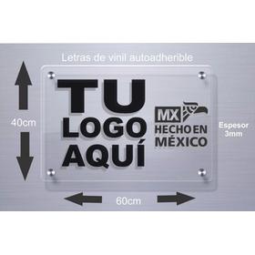 Letrero En Acrílico Con Tu Logo En Vinil De Corte.