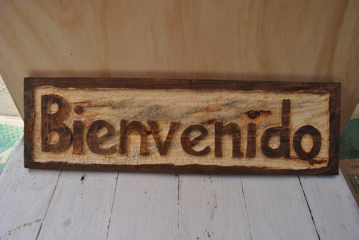 Letrero en madera letrero artesanal tabla 1 x 6 - Letreros en madera ...