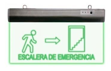 letrero escalera de emergencia de led recargable 127 volts