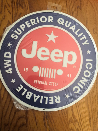 letrero lámina jeep vintage metal