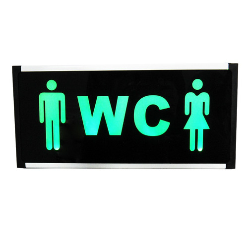 letrero led baños damas caballeros 34093/ fernapet