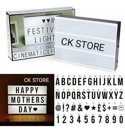 letrero led con 96 símbolos entre letras y números