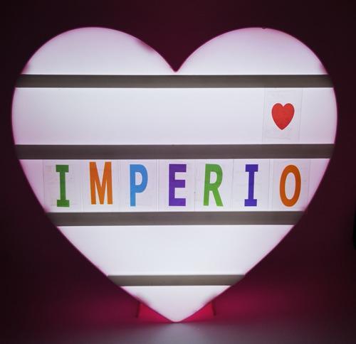 letrero led  heart para mensajes