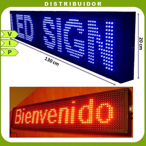 letrero led luminoso programable 1.30cm x 20cm