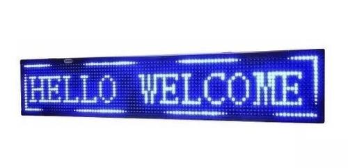 letrero led luminoso programable wi-fi 1 metro x 20 cm