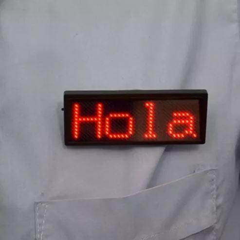 letrero led personal escarapela luminosa programable