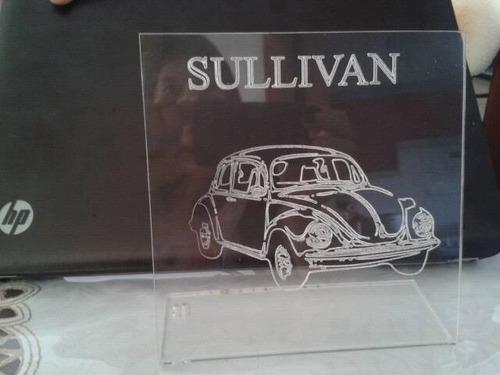 letrero led personalizado vw escarabajo