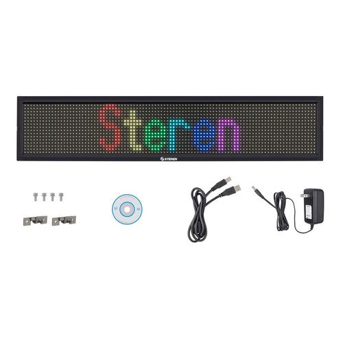 letrero led programable de 7 colores | dis-150