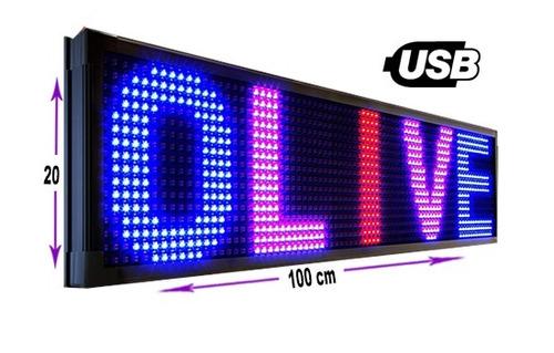 letrero led programable rgb anuncios publicidad 1m pantalla