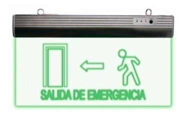 letrero led salida de emergencia derecha recargable 127volts