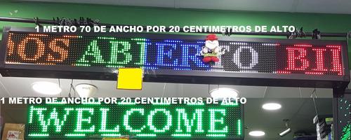letrero led verde 100x20 publicite su negocio y gane más $$$