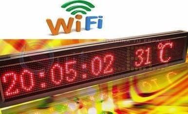 letrero led wifi  matriz 96x16 dip, grenelectronic chile