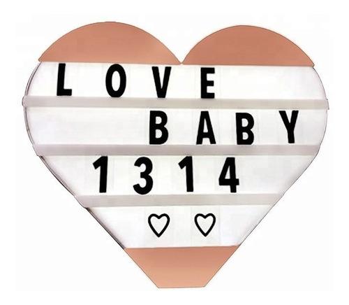 letrero luminoso corazón cartel amor regalo detalle