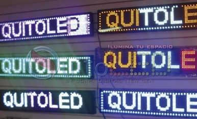 letrero luminoso led 1mts x 40cm un solo color full color