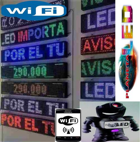 letrero luminoso led pasamensaje programable wifi publicidad