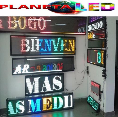 letrero luminoso led pasamensajes programable 500 caracteres