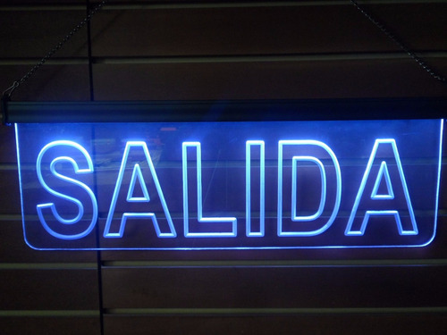 letrero luminoso led refrán personalizado acrílico grabado
