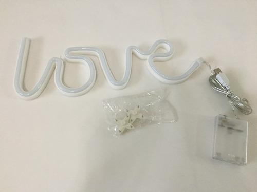 letrero luminoso love. pila y usb. + envío gratis